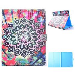 Colorful Mandala Flower Folio Flip Stand Leather Wallet Case for iPad 4 the New iPad iPad2 iPad3