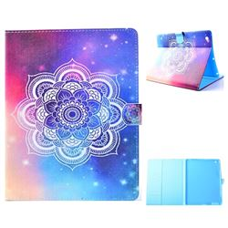Sky Mandala Flower Folio Flip Stand Leather Wallet Case for iPad 4 the New iPad iPad2 iPad3