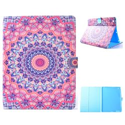 Orange Mandala Flower Folio Flip Stand Leather Wallet Case for iPad 4 the New iPad iPad2 iPad3