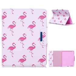 Red Flamingo Folio Flip Stand Leather Wallet Case for iPad 4 the New iPad iPad2 iPad3