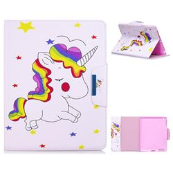 Rainbow Unicorn Folio Flip Stand Leather Wallet Case for iPad 4 the New iPad iPad2 iPad3