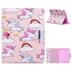 Cloud Unicorn Folio Flip Stand Leather Wallet Case for iPad 4 the New iPad iPad2 iPad3