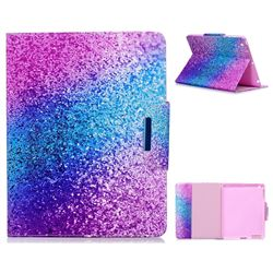 Rainbow Sand Folio Flip Stand Leather Wallet Case for iPad 4 the New iPad iPad2 iPad3