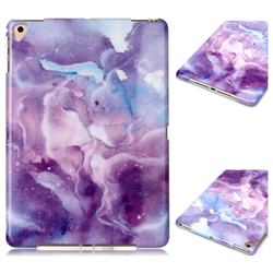 Dream Purple Marble Clear Bumper Glossy Rubber Silicone Phone Case for iPad Air iPad5
