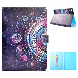Universe Mandala Flower Folio Flip Stand Leather Wallet Case for iPad Air iPad5
