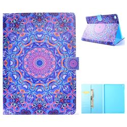 Purple Mandala Flower Folio Flip Stand Leather Wallet Case for iPad Air iPad5