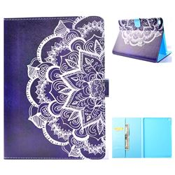 Half Lace Mandala Flower Folio Flip Stand Leather Wallet Case for iPad Air iPad5