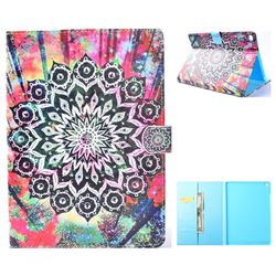 Colorful Mandala Flower Folio Flip Stand Leather Wallet Case for iPad Air iPad5