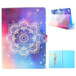 Sky Mandala Flower Folio Flip Stand Leather Wallet Case for iPad Air iPad5