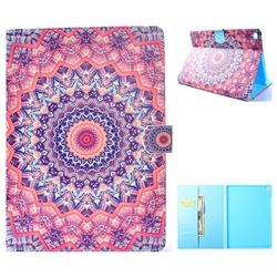 Orange Mandala Flower Folio Flip Stand Leather Wallet Case for iPad Air iPad5
