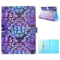 Royal Mandala Flower Folio Flip Stand Leather Wallet Case for iPad Air iPad5