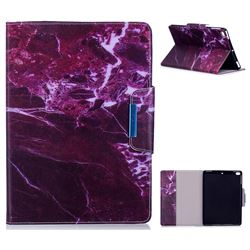Red Marble Folio Flip Stand Leather Wallet Case for iPad Air iPad5