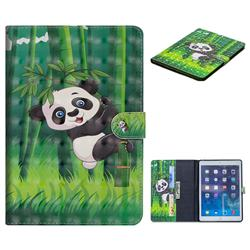 Climbing Bamboo Panda 3D Painted Leather Tablet Wallet Case for iPad Air iPad5