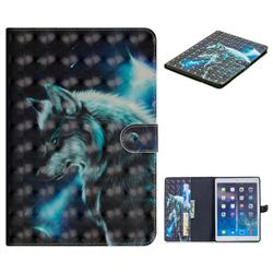 Snow Wolf 3D Painted Leather Tablet Wallet Case for iPad Air iPad5