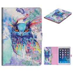 Watercolor Owl 3D Painted Leather Tablet Wallet Case for iPad Air iPad5