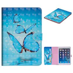 Blue Sea Butterflies 3D Painted Leather Tablet Wallet Case for iPad Air iPad5
