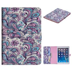 Swirl Flower 3D Painted Leather Tablet Wallet Case for iPad Air iPad5