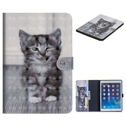 Smiling Cat 3D Painted Leather Tablet Wallet Case for iPad Air iPad5