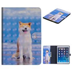 Smiley Shiba Inu 3D Painted Leather Tablet Wallet Case for iPad Air iPad5