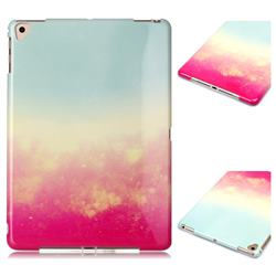 Sunset Glow Marble Clear Bumper Glossy Rubber Silicone Phone Case for iPad Air 2 iPad6
