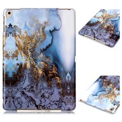 Sea Blue Marble Clear Bumper Glossy Rubber Silicone Phone Case for iPad Air 2 iPad6