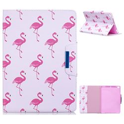Red Flamingo Folio Flip Stand Leather Wallet Case for iPad Air 2 iPad6