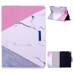 Triangle Marble Folio Flip Stand Leather Wallet Case for iPad Air 2 iPad6