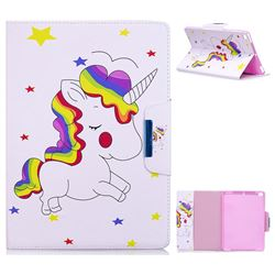 Rainbow Unicorn Folio Flip Stand Leather Wallet Case for iPad Air 2 iPad6