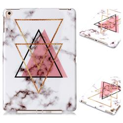 Inverted Triangle Powder Marble Clear Bumper Glossy Rubber Silicone Phone Case for iPad 9.7 2017 9.7 inch