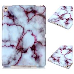 Bloody Lines Marble Clear Bumper Glossy Rubber Silicone Phone Case for iPad 9.7 2017 9.7 inch