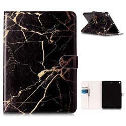 Black Gold Marble Folio Flip Stand PU Leather Wallet Case for iPad 9.7 2017 9.7 inch