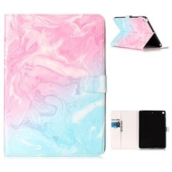 Pink Green Marble Folio Flip Stand PU Leather Wallet Case for iPad 9.7 2017 9.7 inch
