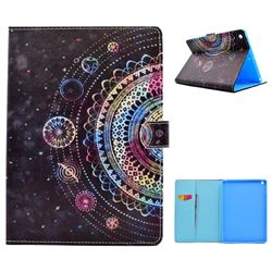 Universe Mandala Flower Folio Flip Stand Leather Wallet Case for iPad 9.7 2017 9.7 inch