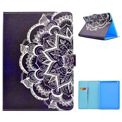 Half Lace Mandala Flower Folio Flip Stand Leather Wallet Case for iPad 9.7 2017 9.7 inch