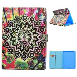 Colorful Mandala Flower Folio Flip Stand Leather Wallet Case for iPad 9.7 2017 9.7 inch