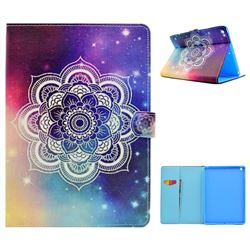 Sky Mandala Flower Folio Flip Stand Leather Wallet Case for iPad 9.7 2017 9.7 inch