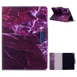 Red Marble Folio Flip Stand Leather Wallet Case for iPad 9.7 2017 9.7 inch