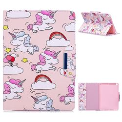 Cloud Unicorn Folio Flip Stand Leather Wallet Case for iPad 9.7 2017 9.7 inch