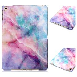Dream Green Marble Clear Bumper Glossy Rubber Silicone Phone Case for Apple iPad 9.7 (2018)