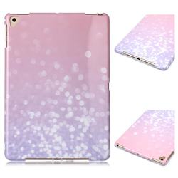 Glitter Pink Marble Clear Bumper Glossy Rubber Silicone Phone Case for Apple iPad 9.7 (2018)