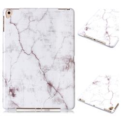 White Smooth Marble Clear Bumper Glossy Rubber Silicone Phone Case for Apple iPad 9.7 (2018)