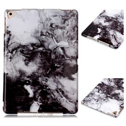 Smoke Ink Painting Marble Clear Bumper Glossy Rubber Silicone Phone Case for Apple iPad 9.7 (2018)
