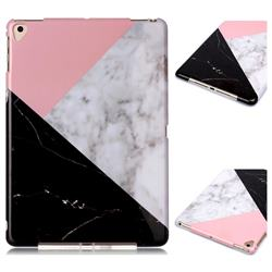 Tricolor Marble Clear Bumper Glossy Rubber Silicone Phone Case for Apple iPad 9.7 (2018)