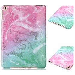 Pink Green Marble Clear Bumper Glossy Rubber Silicone Phone Case for Apple iPad 9.7 (2018)