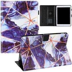 Starry Blue Stitching Color Marble Leather Flip Cover for Apple iPad 9.7 (2018)