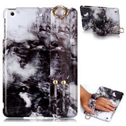 Smoke Ink Painting Marble Clear Bumper Glossy Rubber Silicone Wrist Band Tablet Stand Holder Cover for iPad Mini 1 2 3