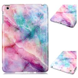 Dream Green Marble Clear Bumper Glossy Rubber Silicone Phone Case for iPad Mini 1 2 3