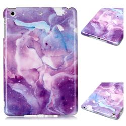 Dream Purple Marble Clear Bumper Glossy Rubber Silicone Phone Case for iPad Mini 1 2 3