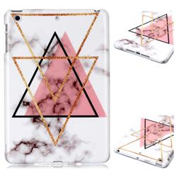 Inverted Triangle Powder Marble Clear Bumper Glossy Rubber Silicone Phone Case for iPad Mini 1 2 3