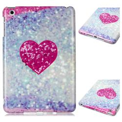 Glitter Rose Heart Marble Clear Bumper Glossy Rubber Silicone Phone Case for iPad Mini 1 2 3